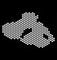 hexagonal greek lesbos island map vector image vector image