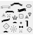 hipster set vector image vector image