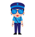 indian lady police indian police service vector image vector image