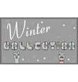 Inscription Winter Collection vector image vector image
