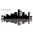 las vegas city skyline black and white silhouette vector image vector image