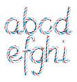 letters a b c d e g g h i 3d vector image vector image