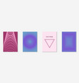 minimalistic cover template set with gradients vector image