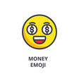money emoji line icon sign vector image vector image