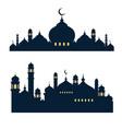 mosque building icon vector image