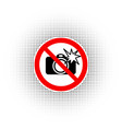 no photography with flash sign vector image vector image