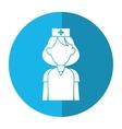 nurse uniform hat cross attention healthcare vector image vector image