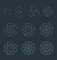 quadrangle contour various sacred geometry set vector image vector image