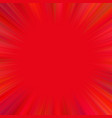 red abstract psychedelic star burst background vector image vector image