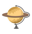 saturn school globe planet geographical sphere vector image vector image