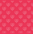 seamless red pattern of heartbeat vector image vector image