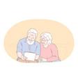 senior elderly couple living happy active vector image vector image
