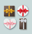 set gift boxes different forms vector image vector image