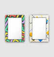 set of two frame pattern on vector image vector image