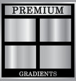 silver gradient backgrounds set silver design vector image vector image