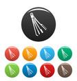 skeleton key icons set color vector image