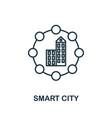 smart city outline icon creative design from vector image vector image