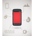 Smart phone inforgraphic vector image vector image