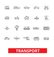 transport car truck ship tram bus delivery vector image vector image