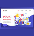 video marketing campaign website landing page vector image vector image