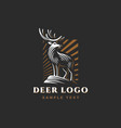 vintage emblem with deer for your business vector image