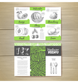 Vintage vegetarian food menu design vector image vector image