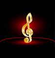 violin key music clef vector image