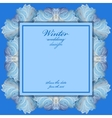 Wedding frame with winter frozen glass design vector image vector image