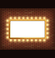 white blank banner with light bulbs vector image vector image