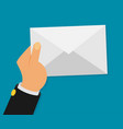 white envelope letter with counter notification vector image