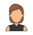 woman faceless profile vector image vector image