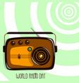 world radio day retro radio vector image vector image