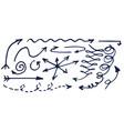 arrows sketches hand drawn vector image