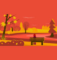 autumn scene vector image