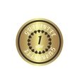 1 year guarantee golden label simple style vector image