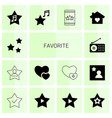 14 favorite icons vector image vector image