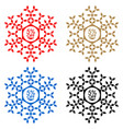 5 off discount sticker snowflake 5 off sale vector image vector image