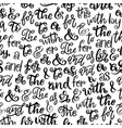 ampersands prepositions lettering seamless pattern vector image