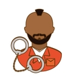arrested man with handcuffs icon vector image vector image