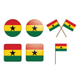 badges with flag of Ghana vector image vector image