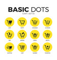 cart flat icons set vector image