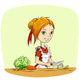 cartoon housewife vector image vector image