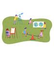 children s summer activities best summer vector image vector image