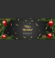 christmas card of pine tree ornaments in spanish vector image vector image