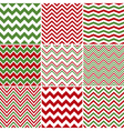 Christmas Chevron Seamless Patterns vector image