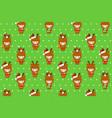 christmas deers holding gifts pattern cover deer vector image