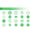 collection 20 organic various badges symbols vector image vector image