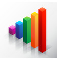 colored bar chart emphasizing growth vector image vector image