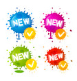 colorful splashes - new labels business icons vector image vector image
