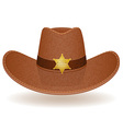 cowboy hat sheriff vector image vector image